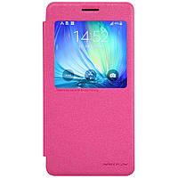 Кожаный чехол Nillkin Sparkle для Samsung Galaxy A7 A700 розовый