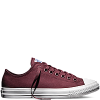 Кеды Converse All Star II Low Chuck Tailor Lunarlon бордового цвета