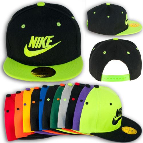 """Кепка реперка с прямым козырьком """"Nike"""", N 6302"""