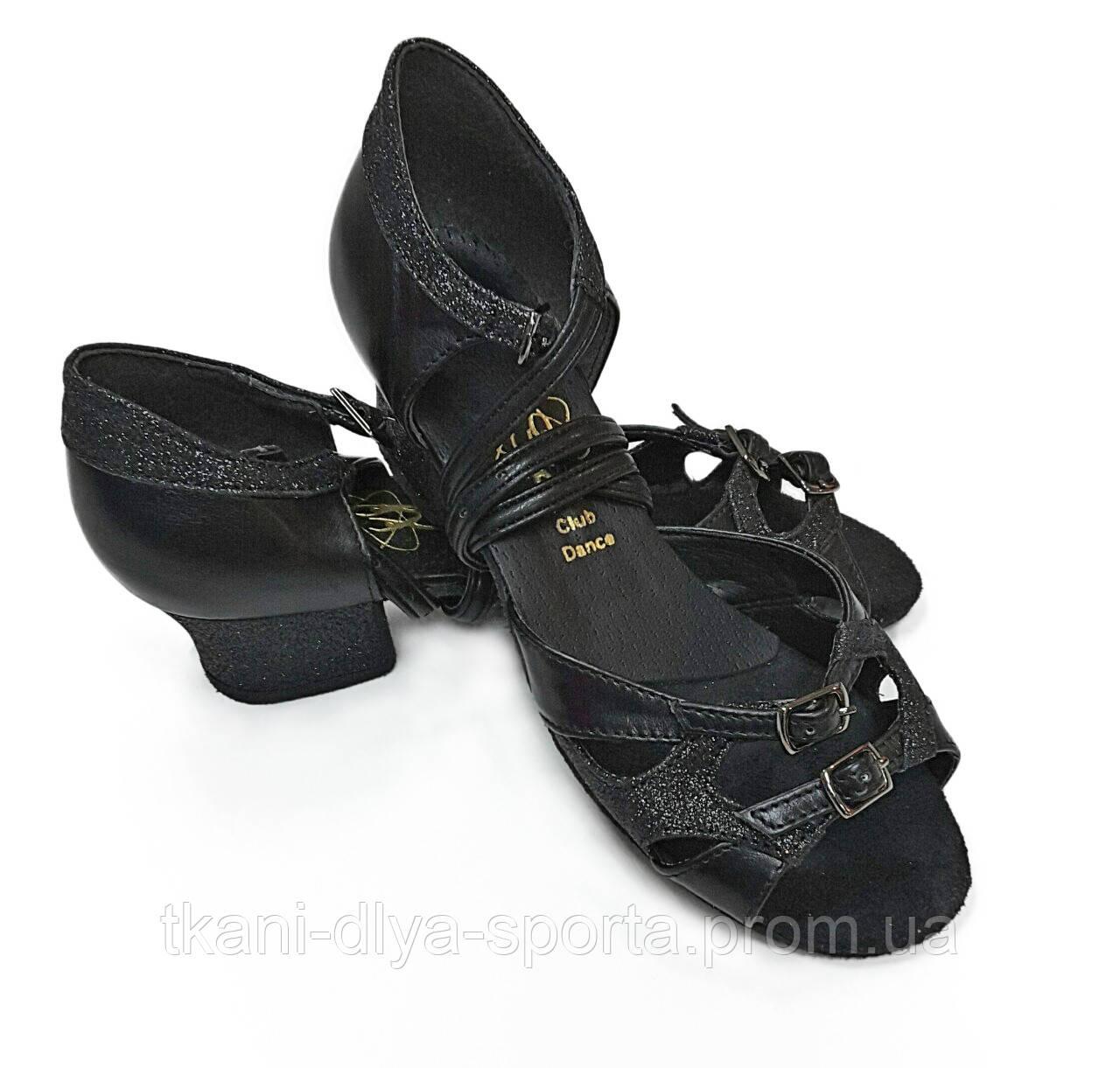 Танцевальные туфли для девочек (цвет: черный)