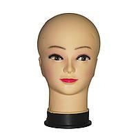 Манекен голова женская телесного цвета с макияжем