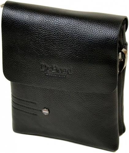 Компактная мужская сумка планшет из искусственной кожи dr.Bond 88359-1 black
