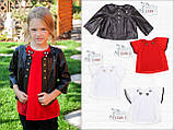 Красная школьная блузка с коротким рукавом р-р 122, фото 3