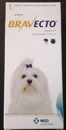 Бравекто, жевательная таблетка от клещей и блох / для собак 2 - 4,5кг, фото 2