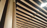 Подвесной потолок металлический реечный - кубообразный (монтаж)