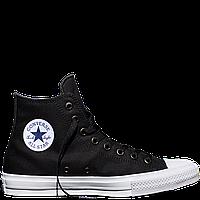Кеды Converse All Star II High Chuck Tailor Lunarlon черно-белого цвета