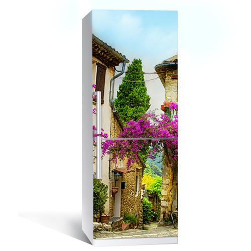 Интерьерная наклейка на холодильник Прованс 02 пленка самоклеющаяся глянцевая с ламинацией 600*2000 мм