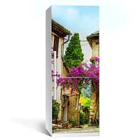 Интерьерная наклейка на холодильник Прованс 02 пленка самоклеющаяся глянцевая с ламинацией 600*2000 мм, фото 1
