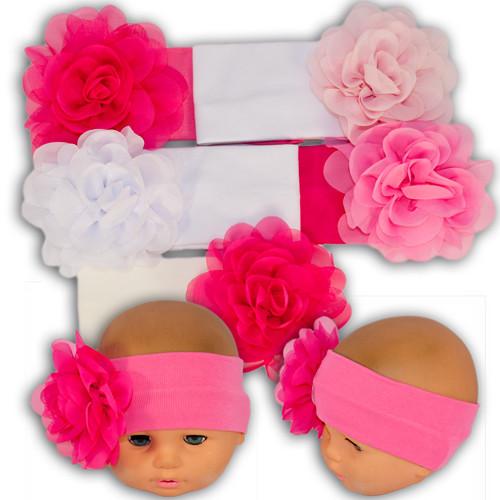Трикотажная повязка для девочек с цветком, производитель Украина Yaaas Y49_1