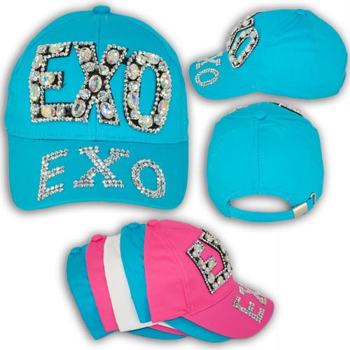 """Кепка с камнями для девочек """"EXO"""""""