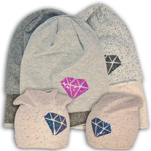 Шапочка трикатажная для девочек Diamond, Польского производителя Fido