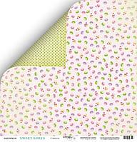 Бумага для скрапбукинга двухсторонняя 30х30 см от Scrapmir Sweet Girls Сладости, 1 шт
