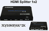 UHD 4K*2K 3D HDMI 1x2 Splitter Video Audio Converter HDV-A12 Support HDCP