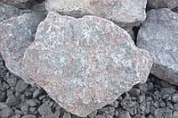 Бутовый гранитный камень цвет розовый фр 100-450 мм - выборка