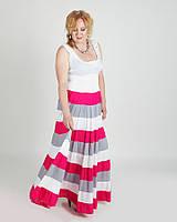 Большой размер Легкий Модный Сарафан в полоску