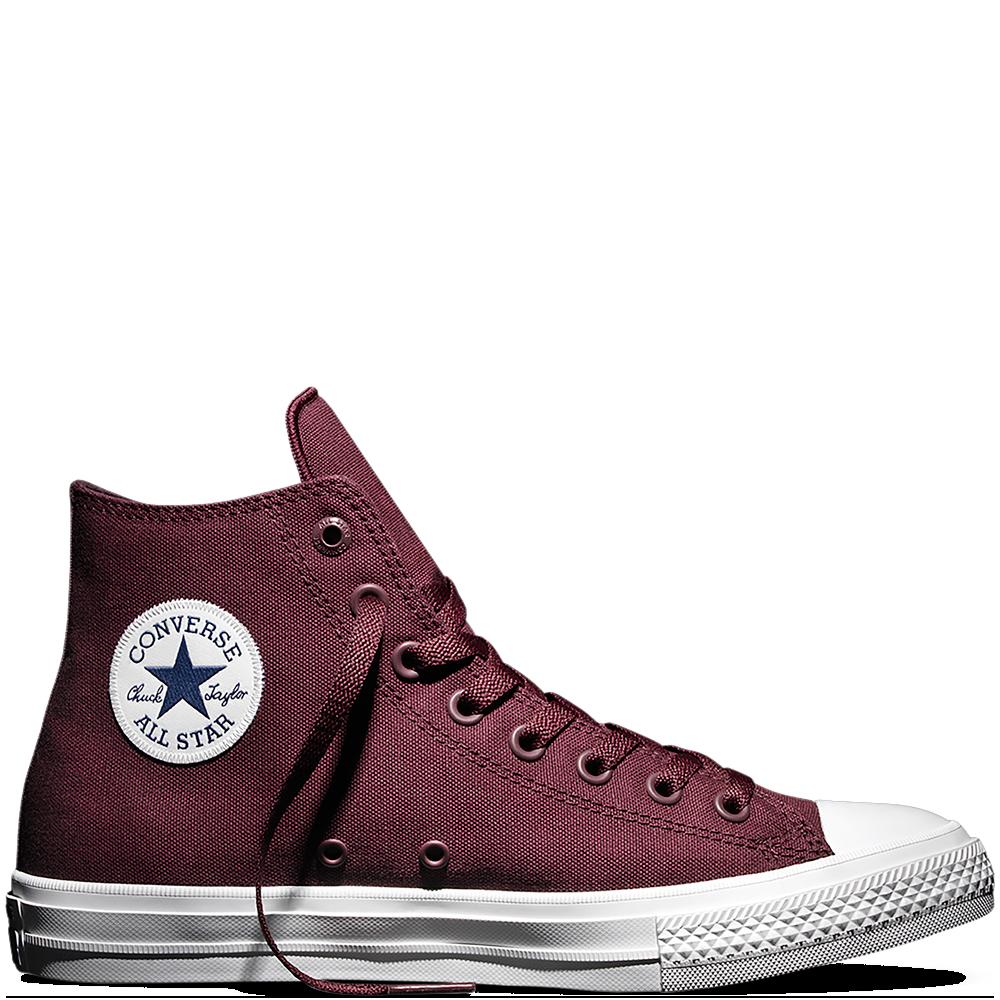 Кеды Converse All Star II High Chuck Tailor Lunarlon бордового цвета