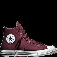 Кеды Converse All Star II High Chuck Tailor Lunarlon бордового цвета, фото 1