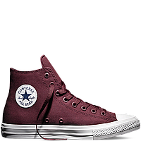 Кеды Converse All Star II High Chuck Tailor Lunarlon бордового цвета