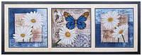 Набор для вышивания бисером Цветы любви (триптих) Б-038