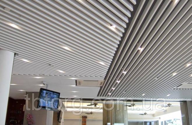 Кубообразный реечный потолок белый матовый (монтаж), фото 2