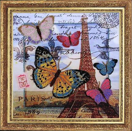 """Набор для вышивания бисером """"Привет из Парижа"""", фото 2"""
