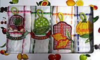 Набор кухонных вафельных полотенец Веселые Овощи