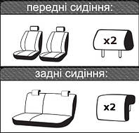 Автомобильные чехлы Geely MK 2006-2011, фото 1