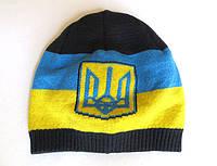 Шапка Украина с гербом, темно-серого цвета