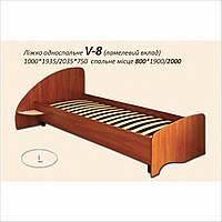 """Кровать односпальная деревянная """"V-8"""", Континент"""