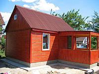 Каркасный домик 6х4,5 блок-хауз.Под ключ.