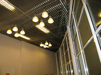 Элементы кубообразного реечного потолка (монтаж)
