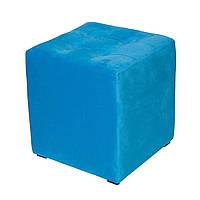 Пуф Куб-3 пуф, 12, 1, Нет, Нет, велюр, Украина, синий
