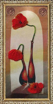 """Набор для вышивания бисером """"Маки в вазах"""", фото 2"""