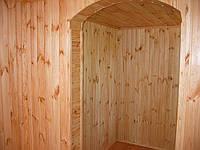 Обшивка вагонкой  внутренней части домика деревяно-каркасного типа 6х4,5.