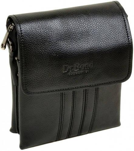 Элегантная мужская сумка планшет из искусственной кожи dr.Bond 88346-1 black