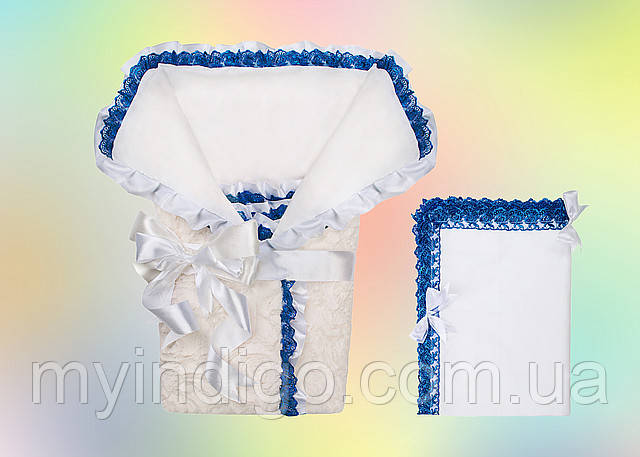 Мереживний конверт-ковдру для новонародженого