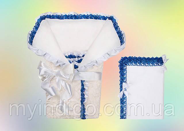 Кружевной конверт-одеяло для новорожденного, фото 1