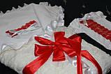Мереживний конверт-ковдру для новонародженого, фото 3