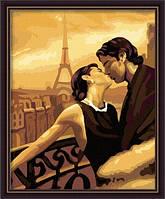 Картина по цифрам MG045 Французский поцелуй (40 х 50 см) Вундеркинд