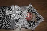 Конверт-одеяло для новорожденного леопардовый, фото 5