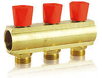 Коллекторная балка со встроенными вентильными клапанами 1*3/4 5 выходов