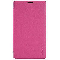 Кожаный чехол Nillkin Sparkle для Microsoft Lumia 435 розовый