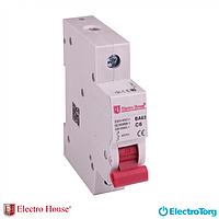 Автоматический выключатель 1п 10A ElectroHouse (автомат) EH-1.10 Харьков