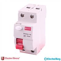 УЗО (Устройство защитного отключения) 2п 16А ElectroHouse EH(x)-2x16