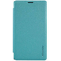 Кожаный чехол Nillkin Sparkle для Microsoft Lumia 435 голубой