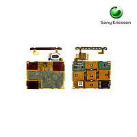 Шлейф для Sony Ericsson W980, динамика, сенсорного экрана, верхний, с компонентами (оригинал)