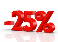 - 25 % на оцинкованную сталь, 0,45 толщины