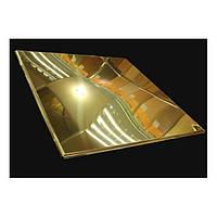 Потолочная плитка металлическая армстронг 600х600. Золото