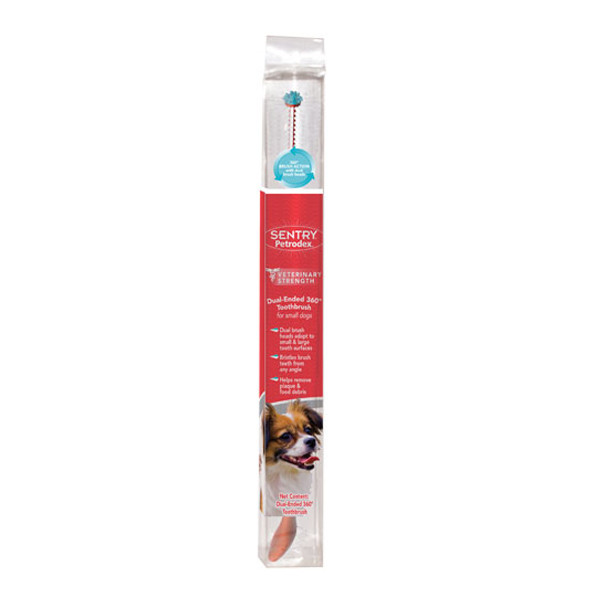 SENTRY Petrodex 360 dual-ended СЕНТРИ ПЕТРОДЕКС ДВОЙНАЯ 360 ГРАДУСОВ зубная щетка для собак малых пород