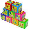 Кубики  пластиковые развивающие украинский алфавит (9 шт)
